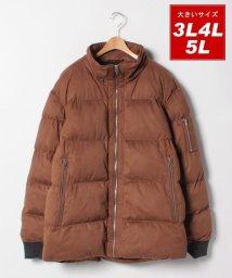 MARUKAWA/大きいサイズ アウター 中綿 ストレッチ フェイクスエード素材/501457826