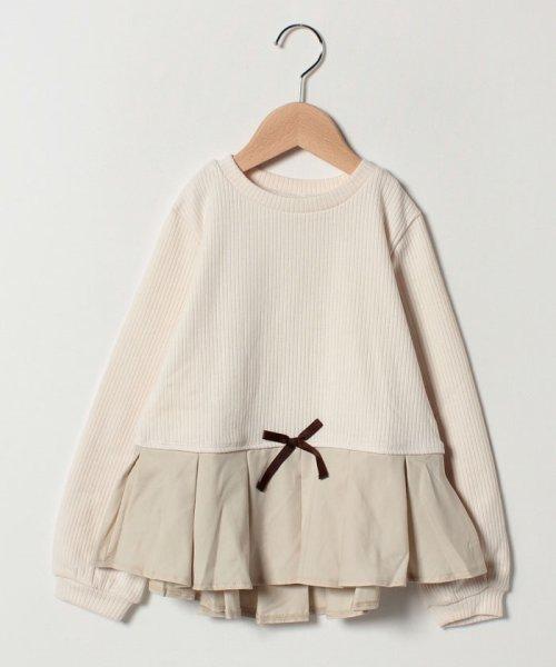 petit main(プティマイン)/タックぺプラムTシャツ/9684241