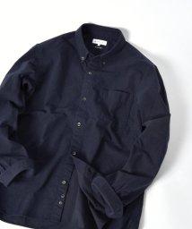 SHIPS JET BLUE/SHIPS JET BLUE: ソリッド ボタンダウンネルシャツ/501473024