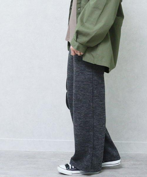 reca(レカ)/リブニットワイドパンツ/100565