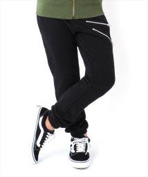 GLAZOS/[ストレート]スウェット・ファスナーデザイン裾絞りパンツ/501476862