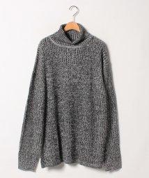 MARUKAWA/大きいサイズ タートルネック セーター ウール混 リブ編み素材/501457810