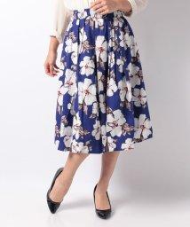 INTERPLANET/【BeautyBy INTERPLANET】綿ブロード水彩単色フラワープリントスカート/501464387