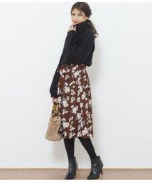 AULI/ニットx花柄ワンピース/501477599