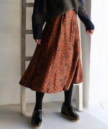 REAL CUBE/QTUME 日本製 フラワータックフレアスカート/501478132