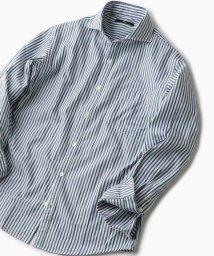 SHIPS MEN/SC: ヘリンボーン/ストライプ セミワイドカラーシャツ/501478799