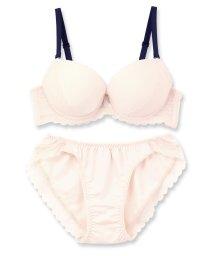 fran de lingerie/Nudy Basic -fill- ヌーディーベーシックフィル ブラ&ショーツセット D-Gカップ/500654415