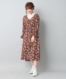 NICE CLAUP OUTLET/花柄ロングワンピース/501473459