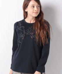 Leilian/チュール刺繍カットソー/501438922