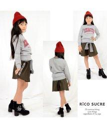 RiCO SUCRE/裏起毛シャツ腰巻風スカパン/501482567