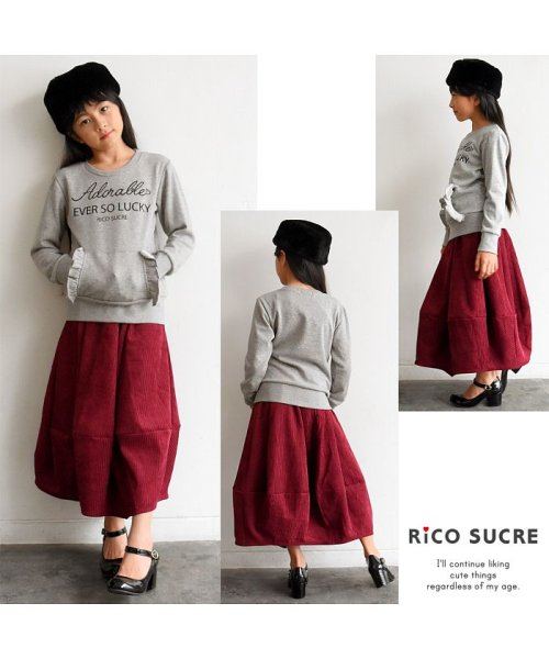 RiCO SUCRE(リコ シュクレ)/ポケットフリルぬくぬくトレーナー/RCTR83907
