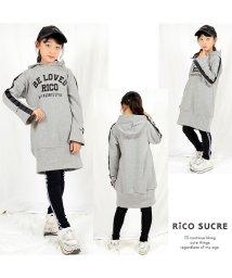RiCO SUCRE/袖テープパーカーワンピース/501482573