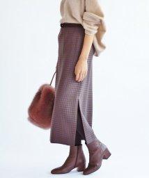 IENA/《追加》ウールチェックタイトスカート◆/501483912