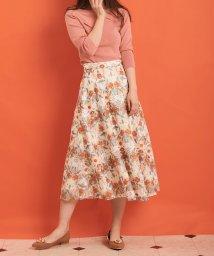 Noela/【美人百花 3月号掲載/andGIRL 3月号掲載】幾何学フラワー柄刺繍スカート/501485478
