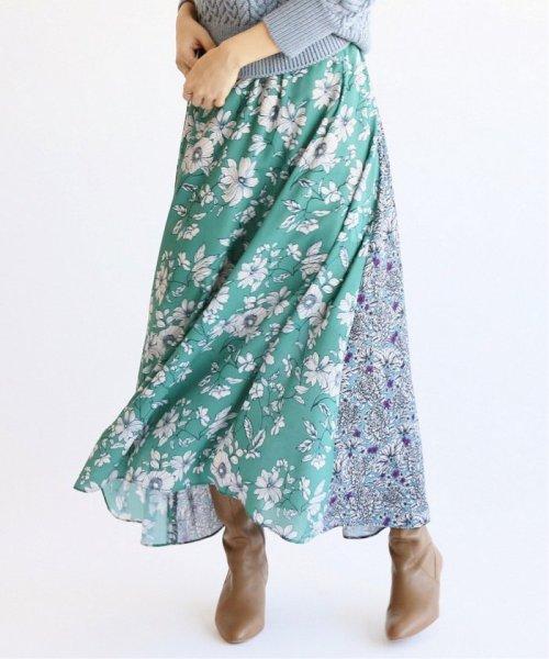 IENA(イエナ)/Deveaux  フラワープリントスカート◆/19060900599010
