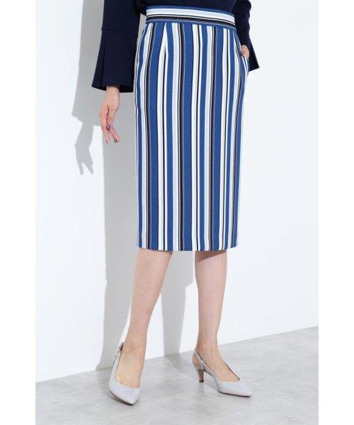 BOSCH(ボッシュ)/[ウォッシャブル]マルチストライプタイトスカート/0219120100