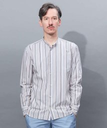 ABAHOUSE/【Recency of Mine】タイプライターストライプバンドカラーシャツ【予/501486685
