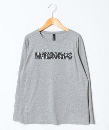 Leilian/スパンコールロゴロングTシャツ/501448638