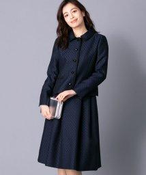 Leilian/【特別提供品】ジャカード千鳥格子柄スーツ/501472755