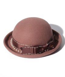 axes femme/パール付リボンボーラー帽/501478239