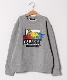 XLARGE KIDS/恐竜モチーフ裏毛トレーナー/501478450