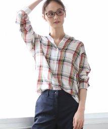 coen/コットンテンセルバンドカラーチェックシャツ/501487555
