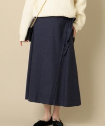 SHIPS WOMEN/Nell:グレンチェックフリルスカート/501491185