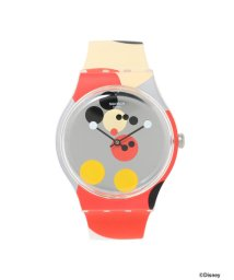 """BEAMS MEN/Swatch / New Gent """"MIRROR SPOT MICKEY MOUSE"""" 2針ウォッチ/501456885"""