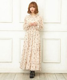 INGNI/花柄シフォンティアードワンピース/501458585