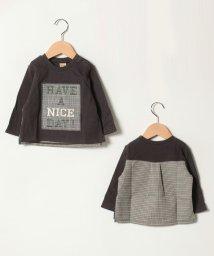 petit main/ボックスパッチTシャツ/501481505