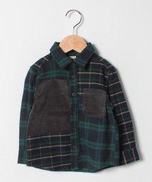 petit main/切り替えチェックシャツ/501484051
