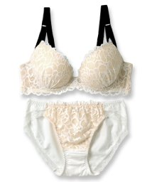 fran de lingerie/LacyQueen レーシークィーン ブラ&ショーツセット B-Gカップ/501281661