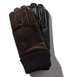 URBAN RESEARCH/【DOORS】Corduroy/LeatherGloves/501470703