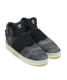 adidas/adidas Originals TUBULAR INVADER STRAP JC  CORE BLACK/CORE BLACK/CRYSTAL WHITE/501494392
