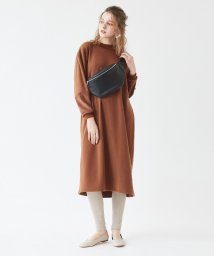 titivate/袖切替シャギーロングワンピース/501498320