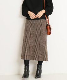 Spick & Span/チェックツィードフロントジップスカート◆/501499148
