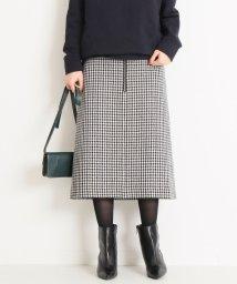 Spick & Span/チェックツィードフロントジップスカート◆/501499149