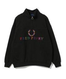BEAMS MEN/FRED PERRY × BEAMS / 別注 90'sロゴ 切替 ハーフジップ/501499172