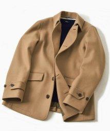 SHIPS MEN/SC: HAMILTON LAMBSWOOL メルトン シングル Pコート キャメル/501500499
