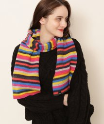 Adam et Rope Le Magasin/【ROBERT MACKIE】Ranza Scarf MultiCol Felted Striped/501483833