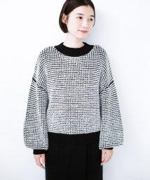 haco!/haco! ぽこぽこ編みと配色がかわいいぽんわり袖のニット/501485116