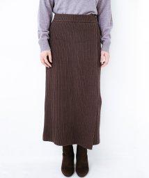 haco!/カジュアルに合わせてもオンナっぽさを忘れないロングニットスカート by MAKORI/501485118