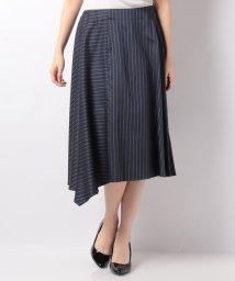 LAPINE BLEUE/【セットアップ対応】キュプラツィル先染ストライプスカート/501487543