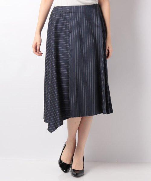 LAPINE BLEUE(ラピーヌ ブルー)/【セットアップ対応】キュプラツィル先染ストライプスカート/239514