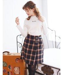 INGNI/サイドベルト/シャギーチェック台形スカート/501488721