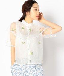 Khaju/sister jane:刺繍レースコンビブラウス/501503047