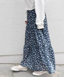 Khaju/《予約》Khaju:フラワー×ドットティアードスカート/501503202