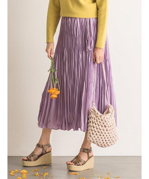 Mila Owen(ミラオーウェン)/ワッシャーマキシ丈巻きスカート/09WFS191066