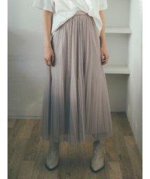 Mila Owen/チュールプリーツスカート/501503665