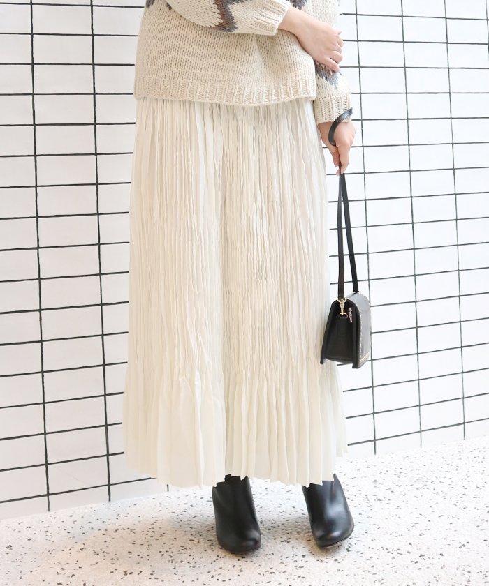 IENA ヴィンテージサテン プリーツスカート